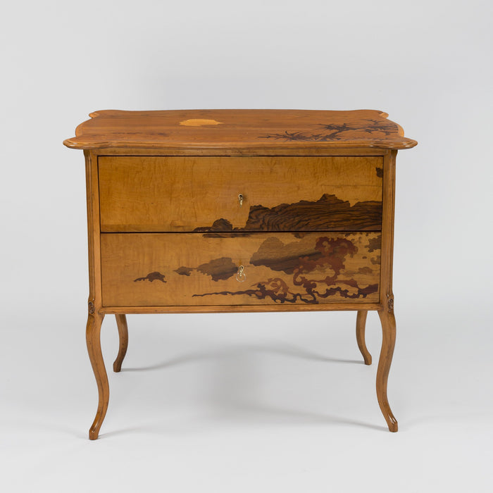"Macklowe Gallery Émile Gallé ""Tale of Genji"" Chest of Drawers"