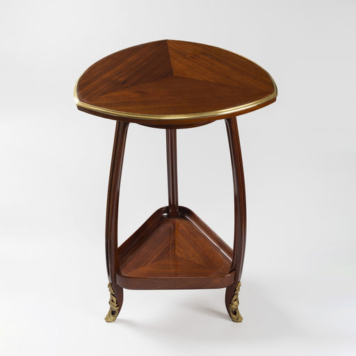 Macklowe Gallery Louis Majorelle Mahogany Triangular Side Table