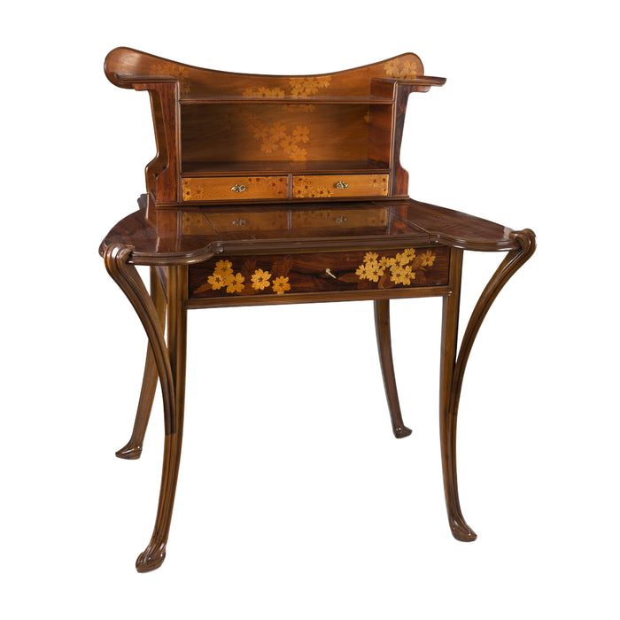 Louis Majorelle Walnut and Fruitwood Marquetry Desk