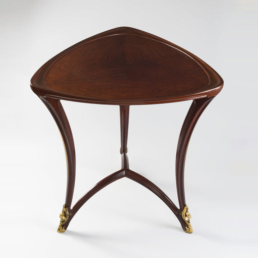 Macklowe Gallery Louis Majorelle Triangular Mahogany Guéridon Table