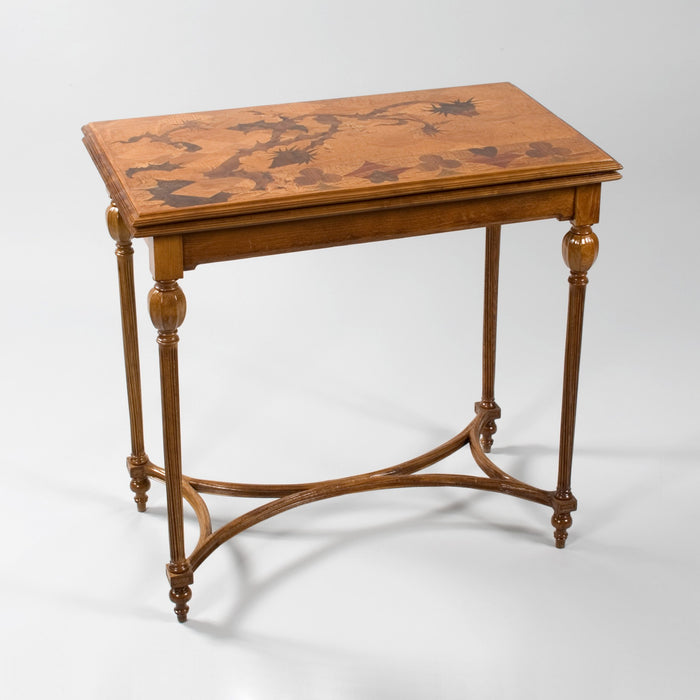 Macklowe Gallery Émile Gallé Fruitwood Marquetry Games Table