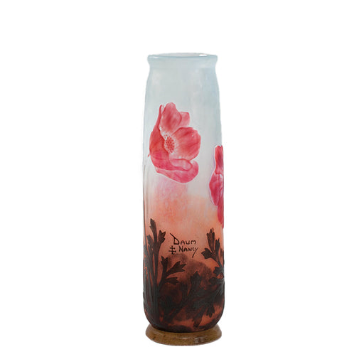 "Macklowe Gallery Daum Nancy ""Poppy"" Cameo Glass Vase"