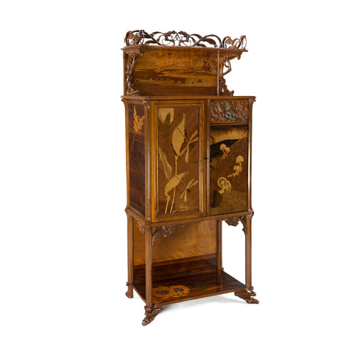 "Macklowe Gallery Émile Gallé ""Grenouilles"" Fruitwood Cabinet"