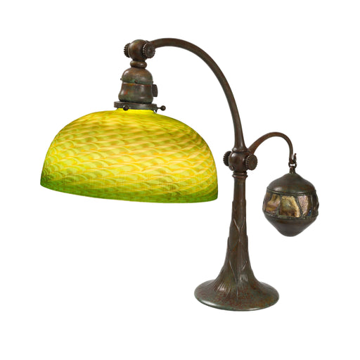 "Macklowe Gallery Tiffany Studios New York ""Counterbalance Damascene"" Desk Lamp"