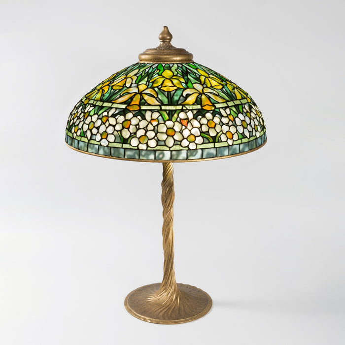 "Macklowe Gallery Tiffany Studios New York ""Jonquil-Daffodil"" Favrile Table Lamp"