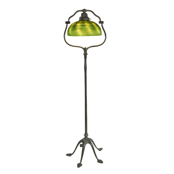 "Macklowe Gallery Tiffany Studios New York ""Damascene Harp"" Floor Lamp"