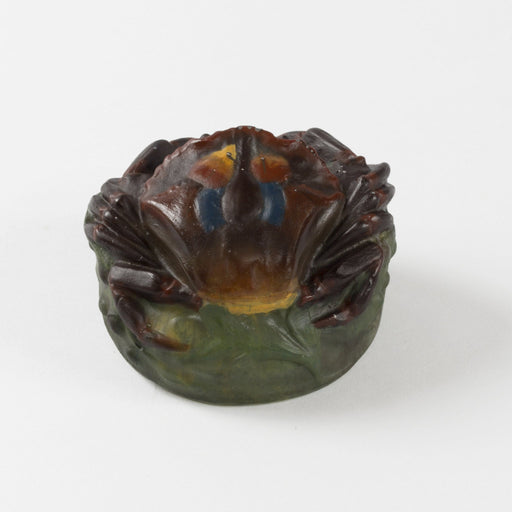 "Macklowe Gallery Amalric Walter and Henri Bergé ""Crabe"" Pâte de Verre Glass Paperweight"