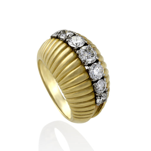 Macklowe Gallery Van Cleef & Arpels Gold and Diamond Bombé Ring