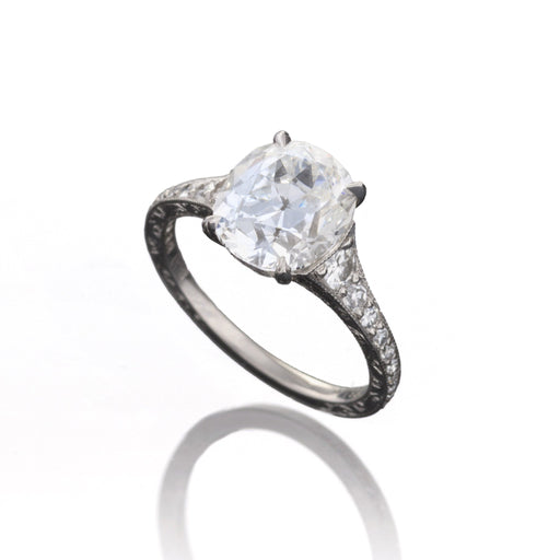 Macklowe Gallery Oval Cushion-Cut Diamond Ring