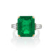 Macklowe Gallery Colombian Emerald and Diamond Ring