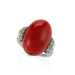 Macklowe Gallery Red Coral and Diamond Ring