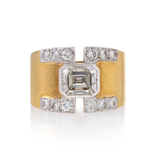 Macklowe Gallery David Webb Asscher-Cut Diamond Ring