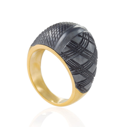Macklowe Gallery Carvin French Hematite Bombé Ring