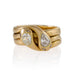 Macklowe Gallery Gold and Diamond Double Serpent Ring