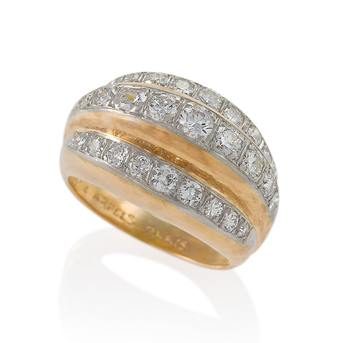 Macklowe Gallery Van Cleef & Arpels Stepped Diamond Ring