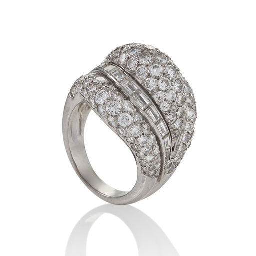 Macklowe Gallery Van Cleef & Arpels Diamond Bombé Ring