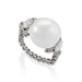 Macklowe Gallery Baroque Saltwater Pearl and Diamond Flexible Ring
