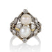 Macklowe Gallery Double Pearl and Diamond Ring