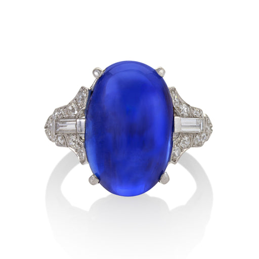 Macklowe Gallery Ceylon No-Heat Sapphire and Diamond Ring
