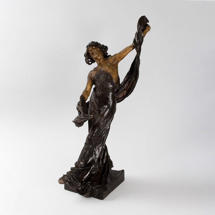 Macklowe Gallery Victor Ségoffin Patinated Bronze Figural Sculpture