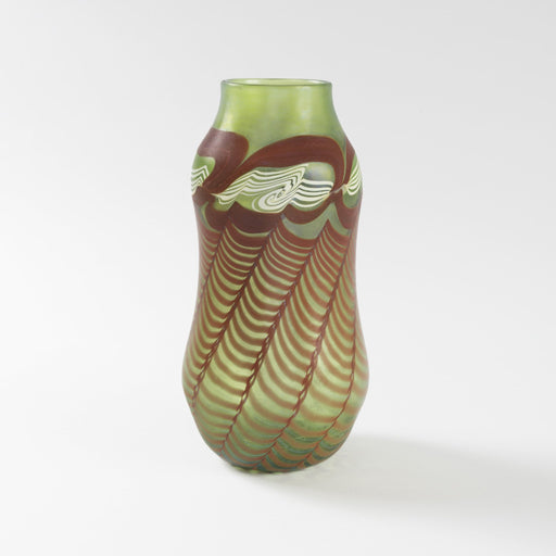 Macklowe Gallery Tiffany Studios New York Decorated Favrile Glass Vase