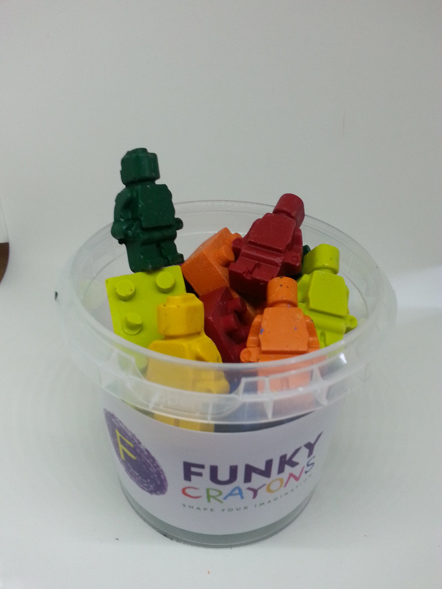 Tub of building brick Funky Crayons