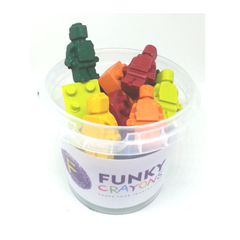 Funky Crayons tub of shapes