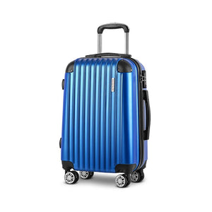 Wanderlite 20inch Lightweight Hard Suit Case Luggage Blue