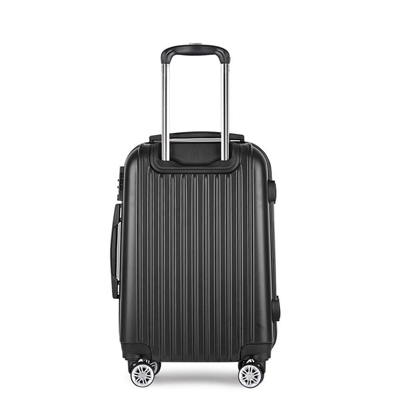 Wanderlite 28inch Lightweight Hard Suit Case Luggage Black