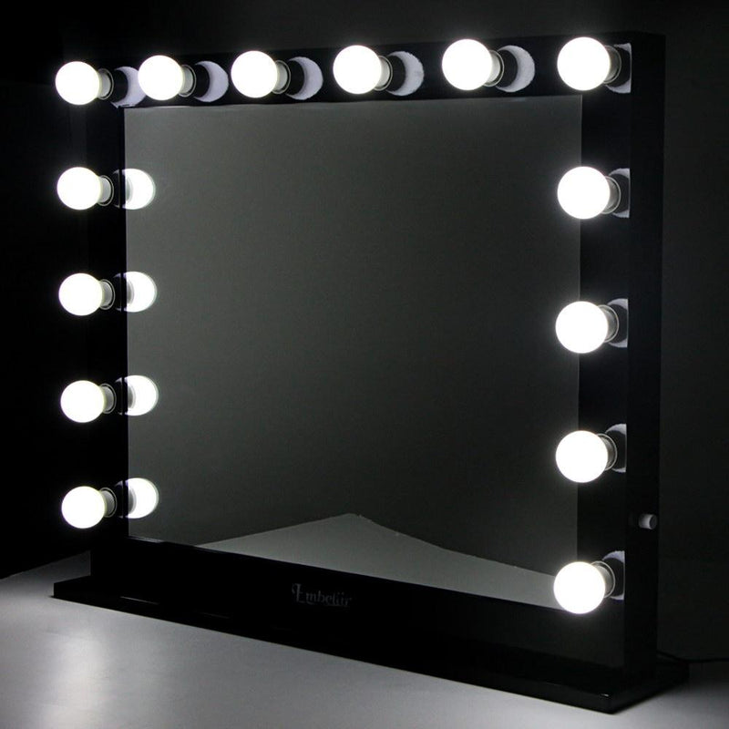 Embellir Make Up Mirror with LED Lights - Black