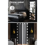 Standing Free Wall Full Length Mirror Dressing Mirror With Light Bulbs Makeup