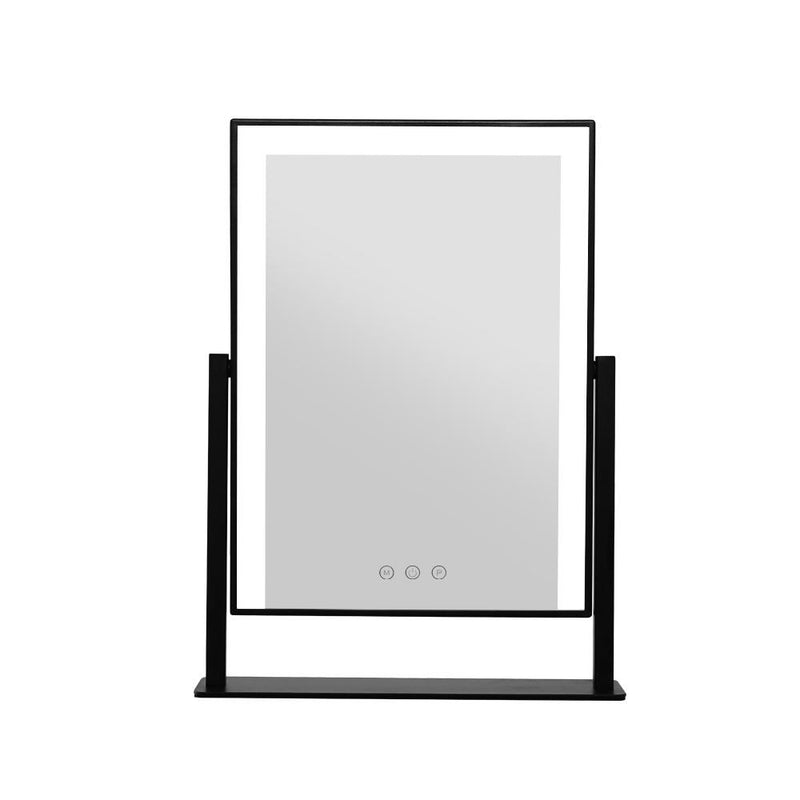Embellir LED Makeup Mirror Hollywood Standing Mirror Tabletop Vanity Black