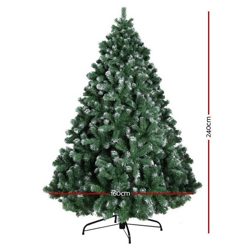 Jingle Jollys 8FT Christmas Snow Tree