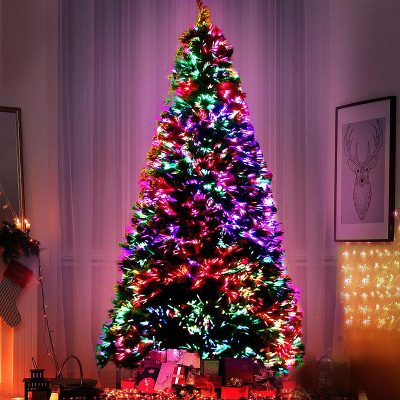 Jingle Jollys 1.8M 6FT LED Christmas Tree Optic Fiber Xmas Multi Colour Lights