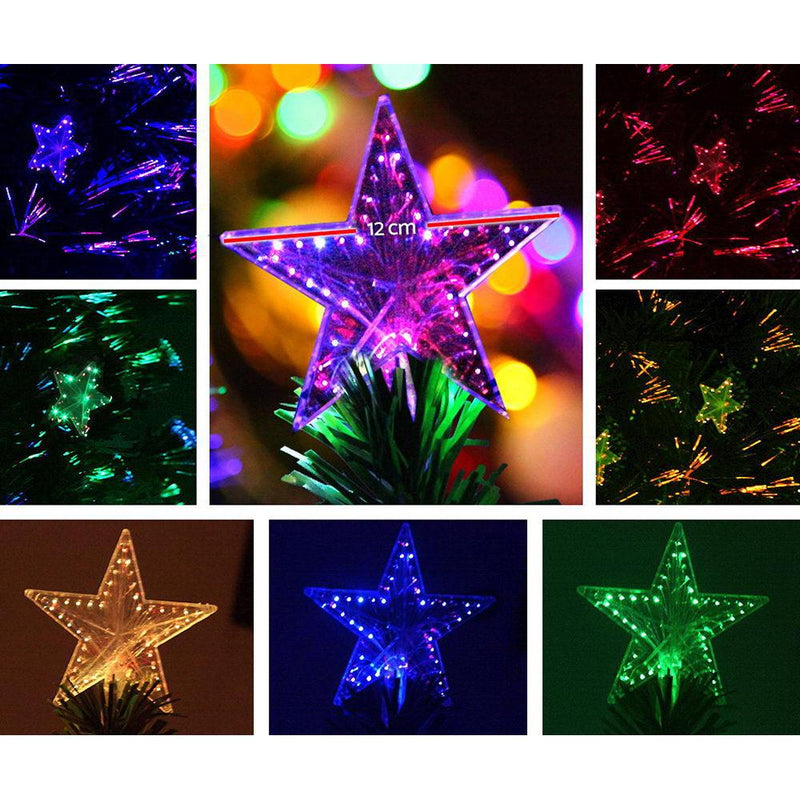 Jingle Jollys 2.1M 7FT LED Christmas Tree Xmas Optic Fiber Multi Colour Lights