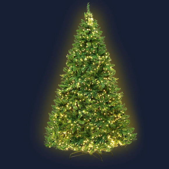 Jingle Jollys 2.1M 7FT Christmas Tree 1134 LED Lights 1134 Tips Warm White Green
