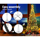 Jingle Jollys 3M LED Christmas Tree Lights Xmas 330pc LED Warm White Optic Fiber