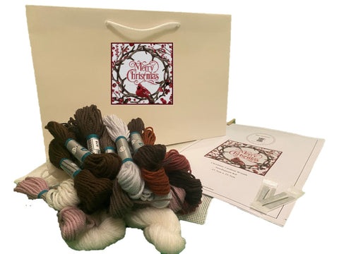 Christmas Wreath Tapestry Kit