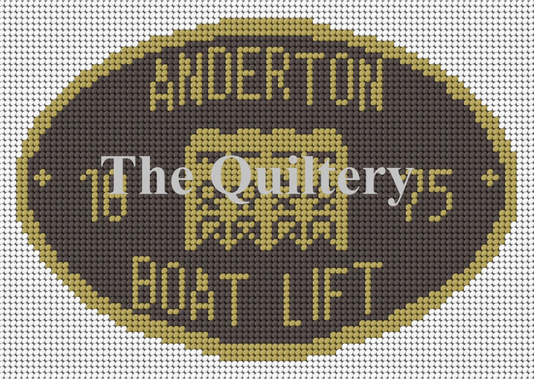 Anderton Boat Lift Canal Plaque Tapestry Kit