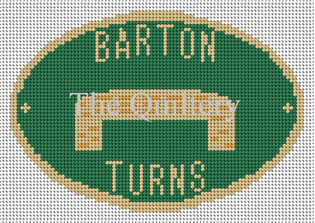 Barton Turns Canal Plaque Tapestry Kit