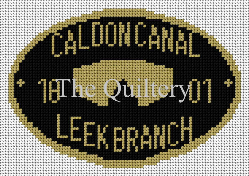 Caldon Canal - Leek Branch Canal Plaque Tapestry Kit