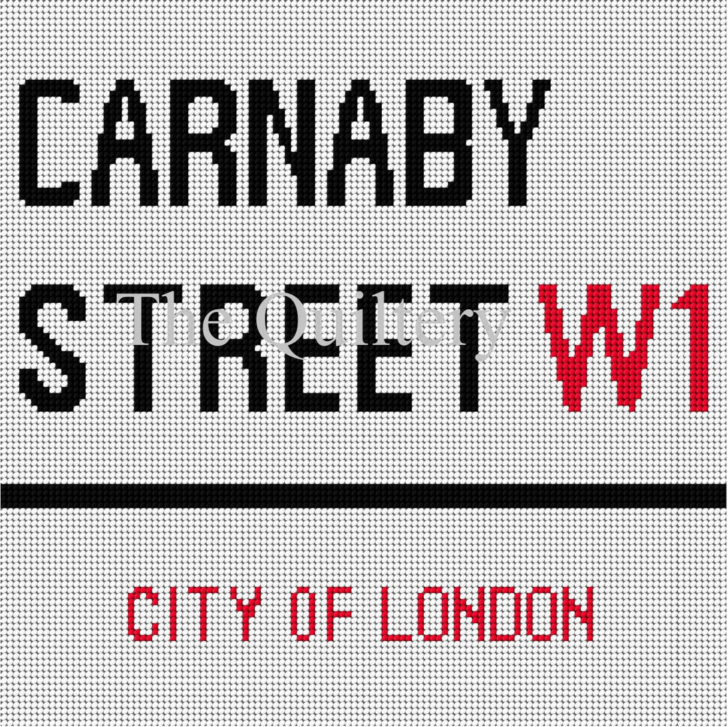 The Quiltery London Series 'Carnaby Street' Tapestry Kit