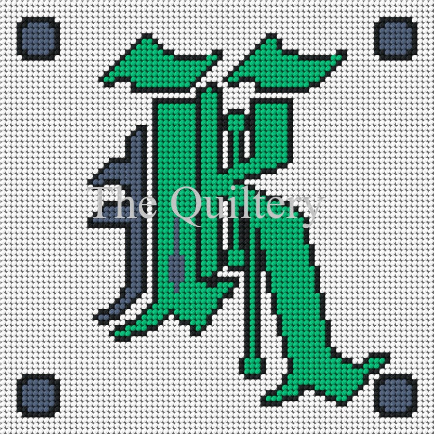 Monogram K Tapestry / Needlepoint Kit