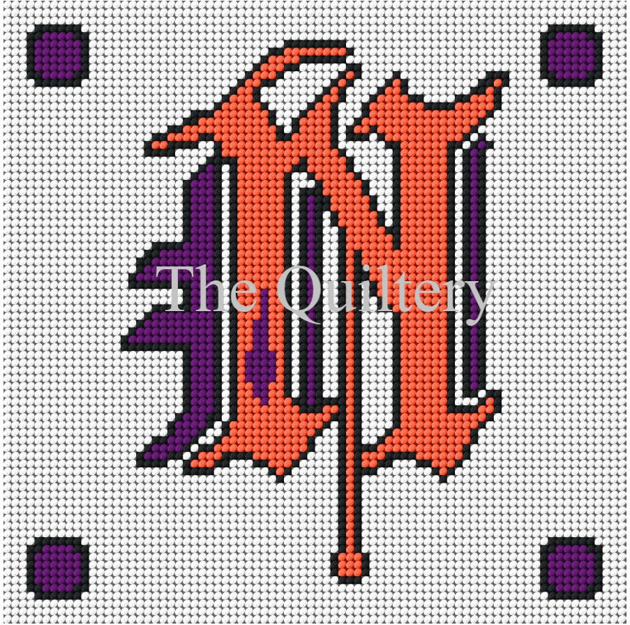 Monogram N Tapestry / Needlepoint Kit
