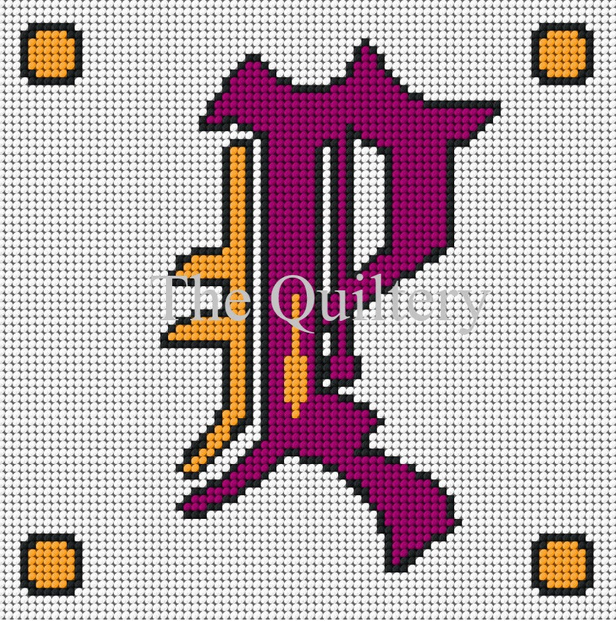 Monogram P Tapestry / Needlepoint Kit