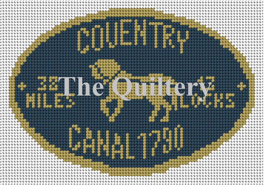 Coventry Canal Plaque Tapestry Kit