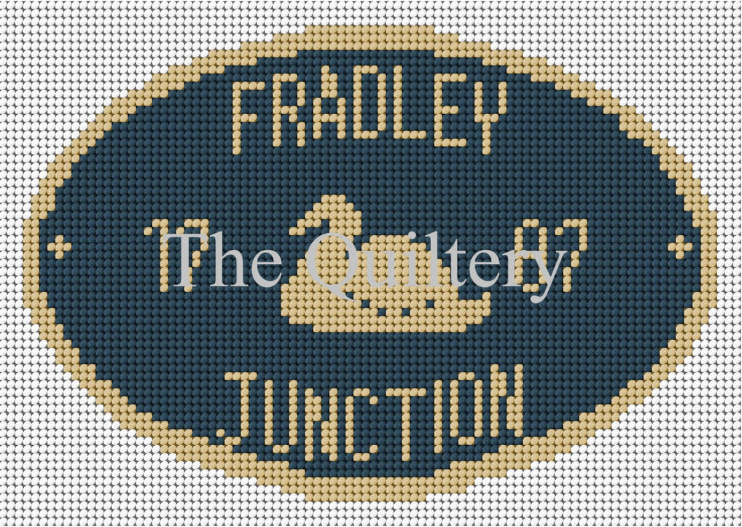 Fradley Junction Canal Plaque Tapestry Kit