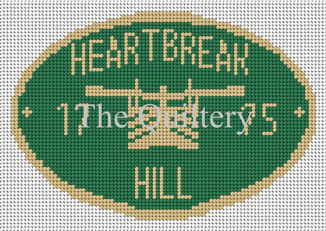 Heartbreak Hill Canal Plaque Tapestry Kit