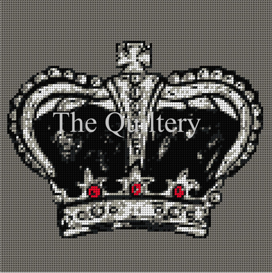 The Quiltery London Series Crown Tapestry Kit
