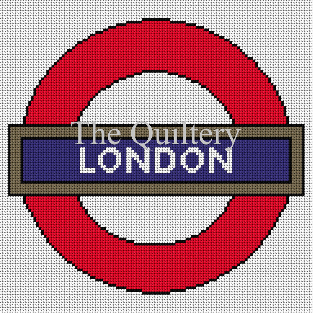 The Quiltery London Series 'London' London Underground Tapestry Kit - White